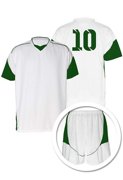 80d755f16e Uniforme de Futebol Munique Branco com Verde - Kit com 16 - Coletes ...