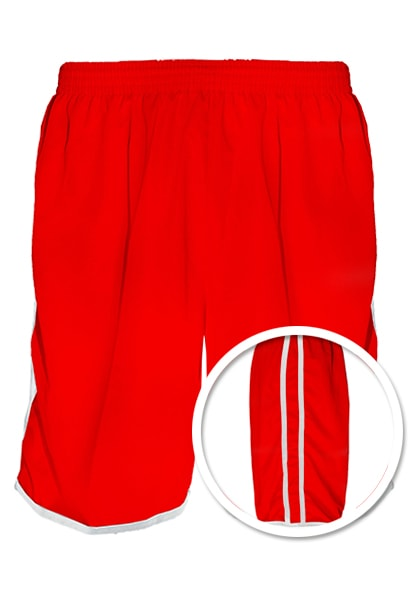 e75ae689ce Calção de Futebol Lottus Vermelho Branco - Coletes para Futebol