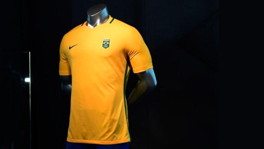 Uniforme do Futebol Olímpico é lançado no Rio - Coletes para Futebol 053f26684a17a