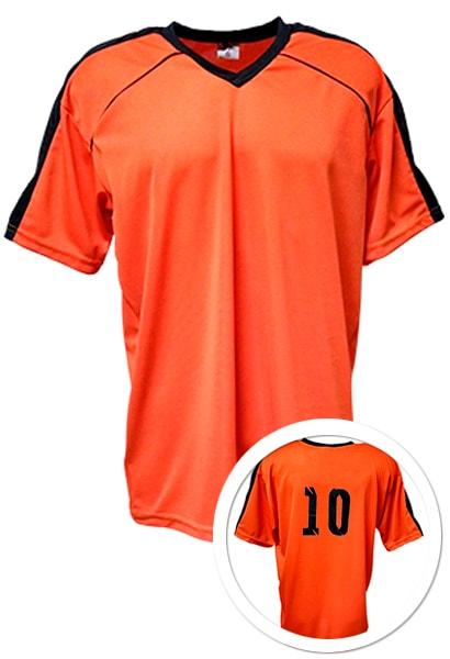 a3978551a1 Camisa de Futebol Arezzo Laranja com Preto - Coletes para Futebol