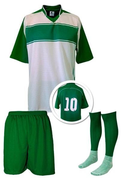 e4f727d64bcb9 Kits de Uniformes de Futebol - Camisa Numerada + Calção + Meião