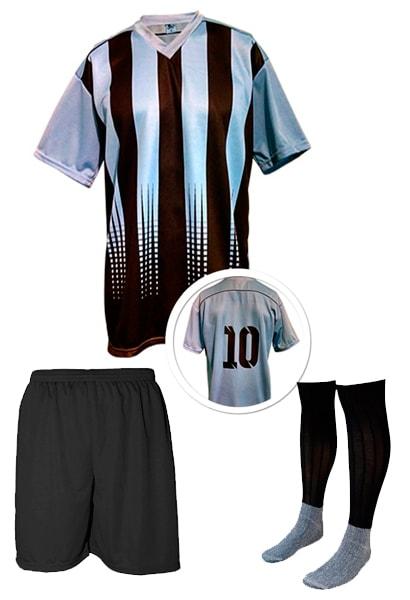 16024b53de Calção de Futebol Lottus Preto Vermelho - Coletes para Futebol