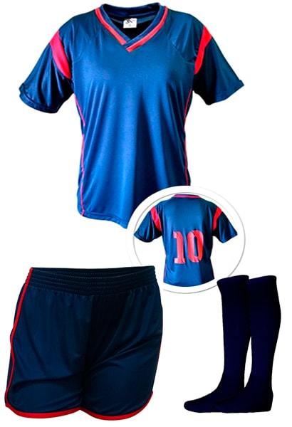 1d41641e91 Kit Feminino Camisa + Calção + Meião de Futebol modelo Ferrara ...