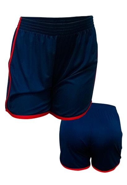 Calção de Futebol Feminino Ferrara Azul Marinho - Coletes para Futebol 7d3215b588760