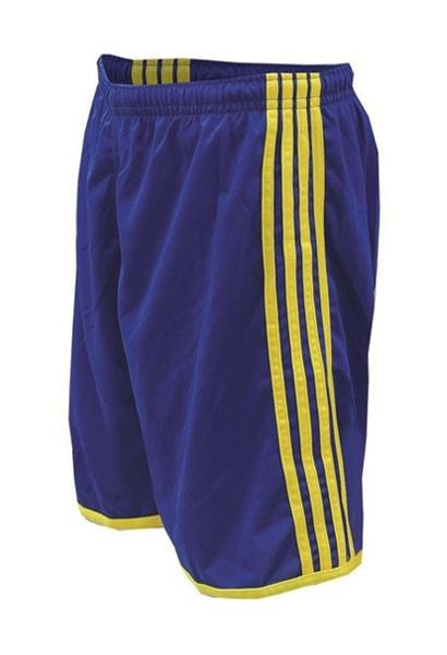 Calção de Futebol Luxo Azul Royal com Amarelo - Uniplace Esportes a11d6fc0ffa42