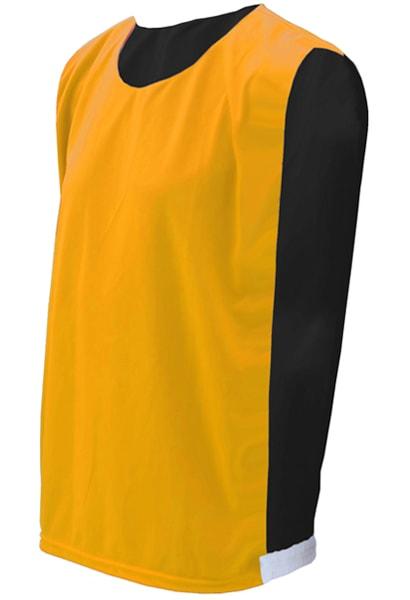 abddaf26ad Colete Dupla Face Amarelo com Preto - Coletes para Futebol