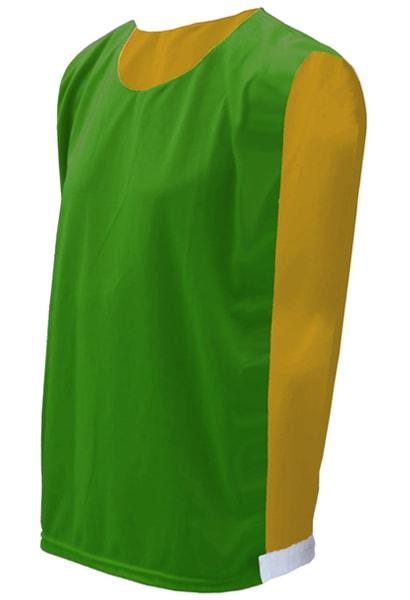 44e7a1232b Colete Dupla Face Verde com Amarelo - Loja Coletes para Futebol