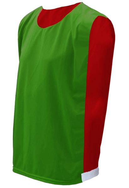 Colete Dupla Face Verde com Vermelho - Coletes para Futebol aed3979b990d1