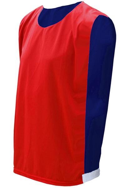 1a7bd44b38ac4 Colete Dupla Face Vermelho com Azul Royal - Coletes para Futebol  Personalizados e Coletes para Eventos
